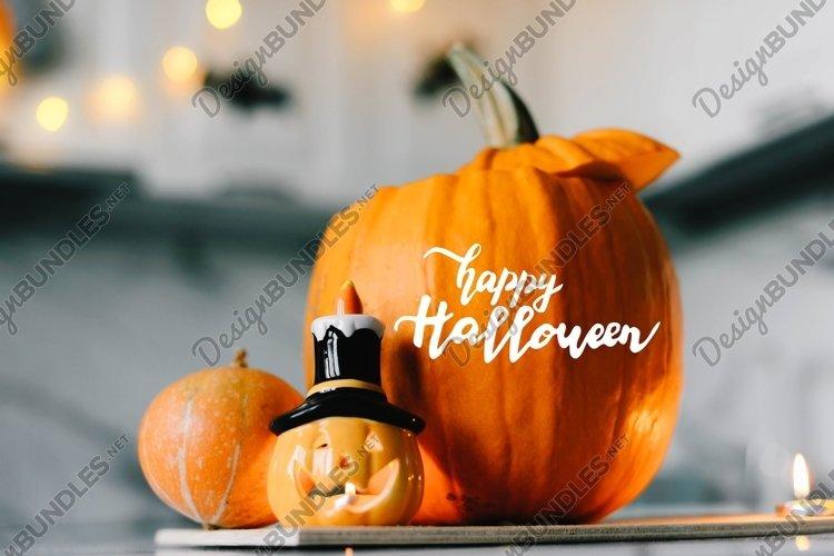 Happy Halloween. Lettering Halloween. Kitchen decoration.