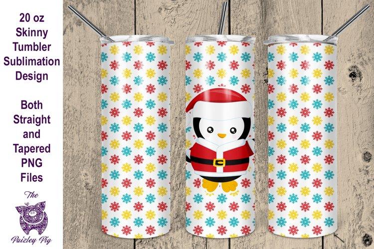 Christmas Penguin 20 oz skinny Tumbler Sublimation File example image 1