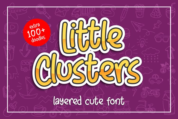 Little Clusters - Layered Cute Font - example image 1