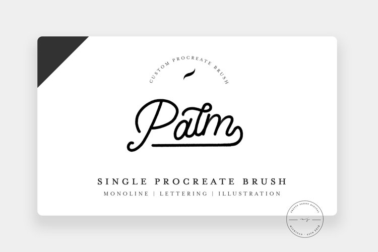 Palm | Single Procreate Brush, Textured Monoline Brush