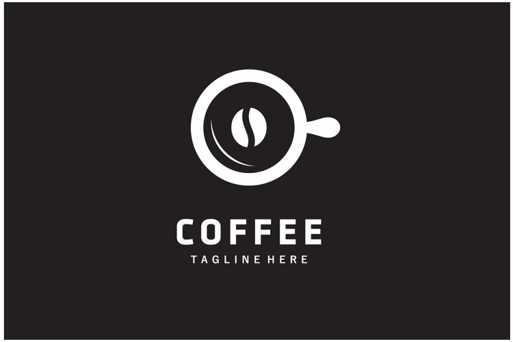 Coffee cup beans logo design vector illustration example image 1