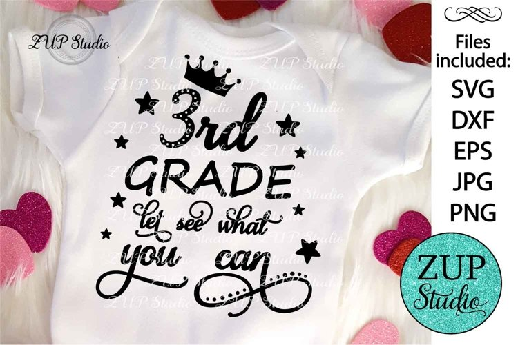 3rd Grade let see what you can SVG Design Cutting Files 190