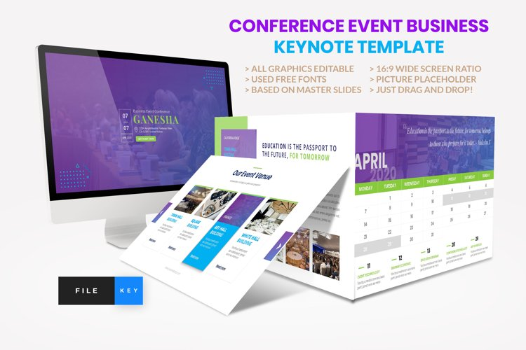 Conference - Event Business Seminar Keynote Template example image 1