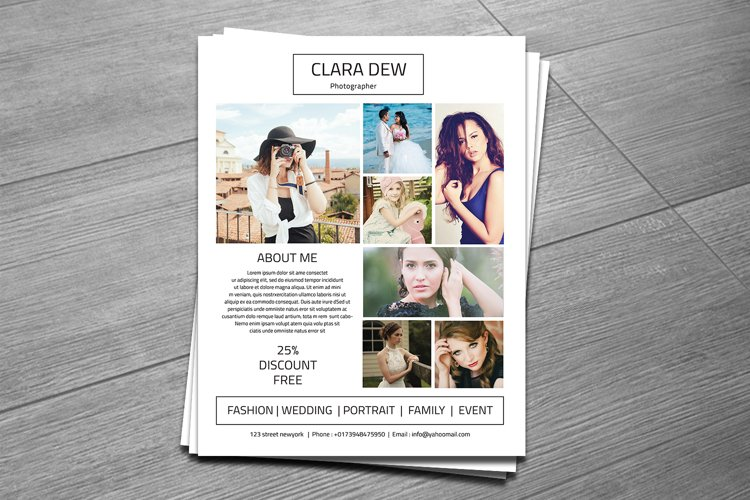 Photography Flyer Template, Photoshop Template example image 1