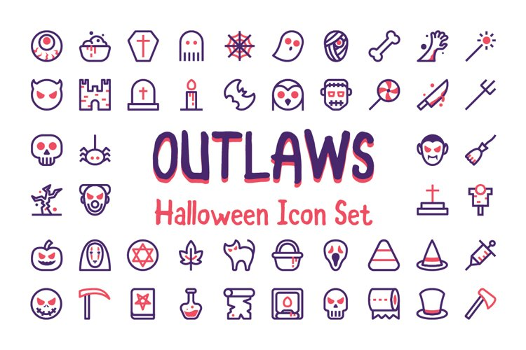 Outlaws Halloween Icons example image 1