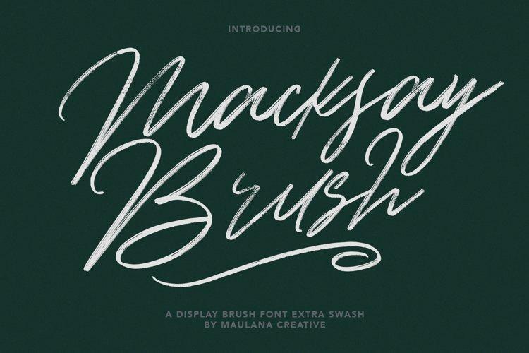 Macksay Display Brush Font Extra Swash example image 1