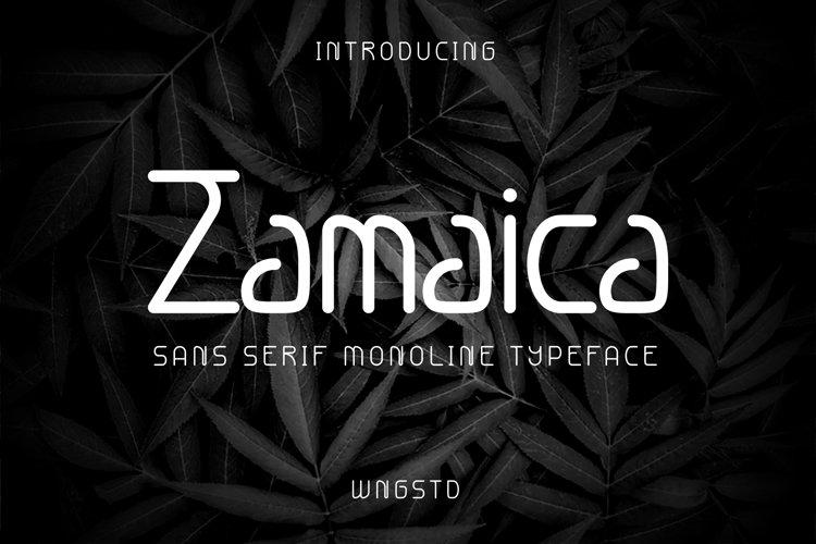 Zamaica - Monoline Sans Serif example image 1