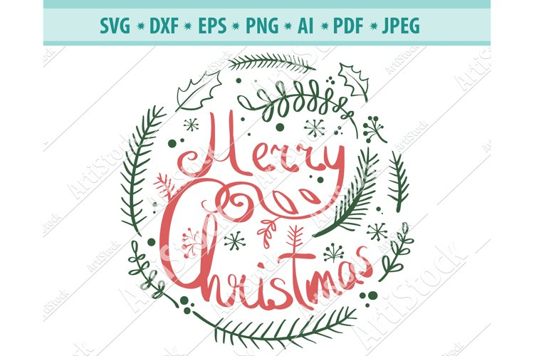 Merry Christmas SVG, Snowflake svg, Christmas Dxf, Png, Eps example image 1