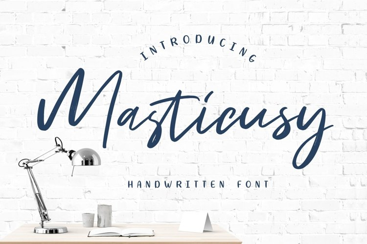 Masticusy Handwritten Font example image 1