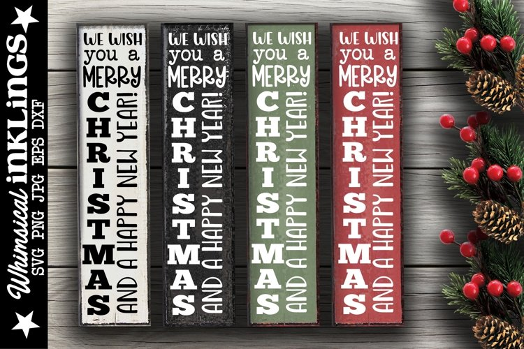 We Wish You A Merry Christmas-Vertical SVG example image 1