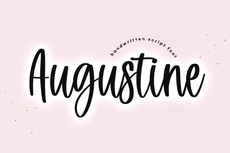 Augustine - Handwritten Script Font example image 1