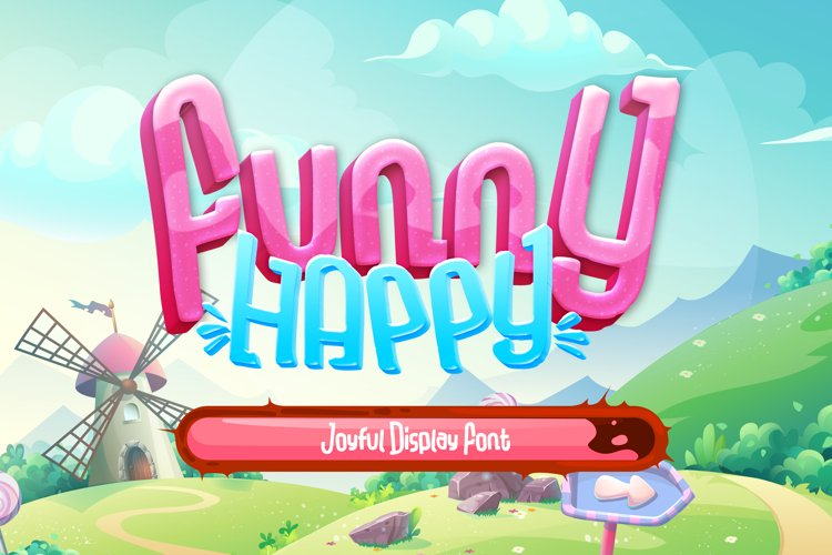 Funny-Happy Joyful Display Font example image 1