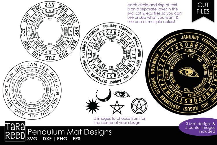 Pendulum Mats - SVG and Cut Files for Crafters