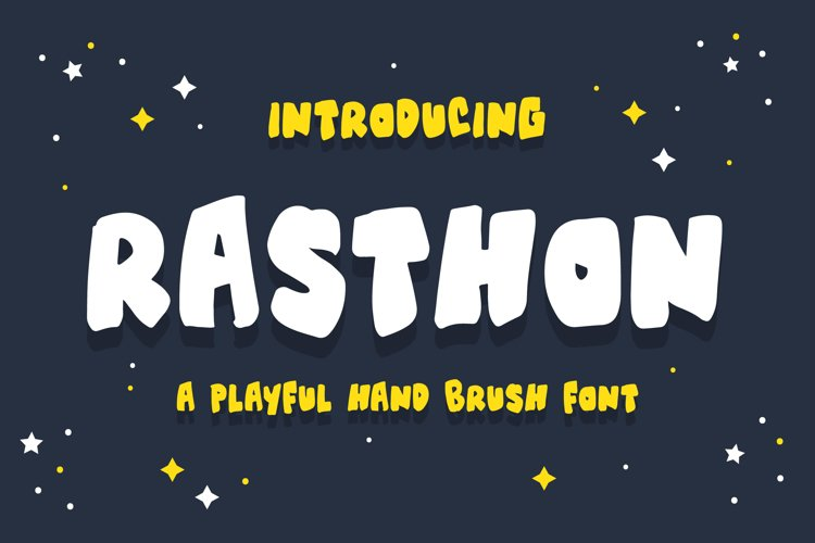 Rasthon - A Playful Hand Brush Font example image 1