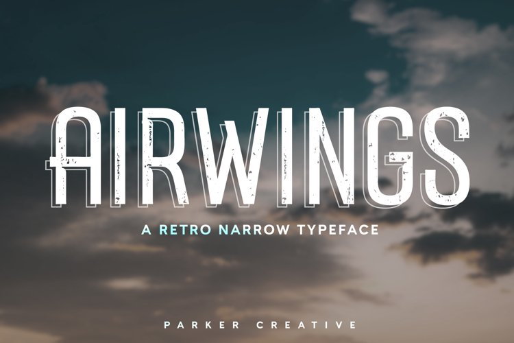 Airwings - Retro Narrow Sans Serif example image 1