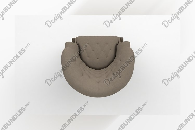 Luxury chair top view furniture 3d rendering example image 1