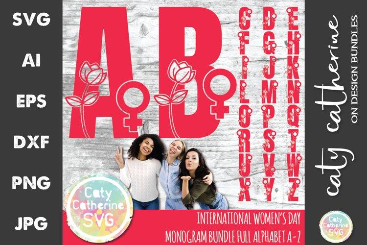 International Womens Day Monogram Bundle Full Alphabet SVG