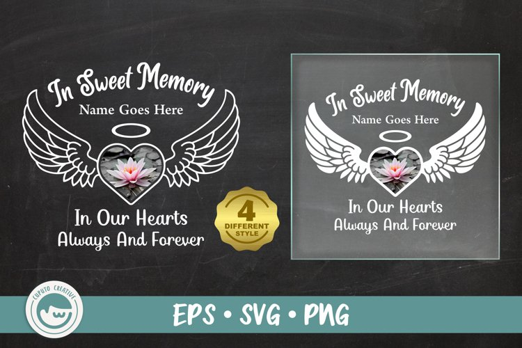 Angle Wings In Sweet Memory svg