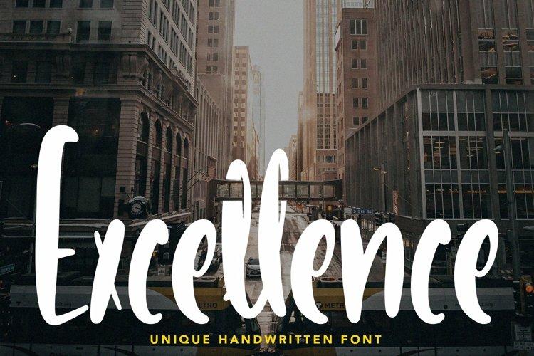 Web Font Excellence - Unique Handwritten Font example image 1