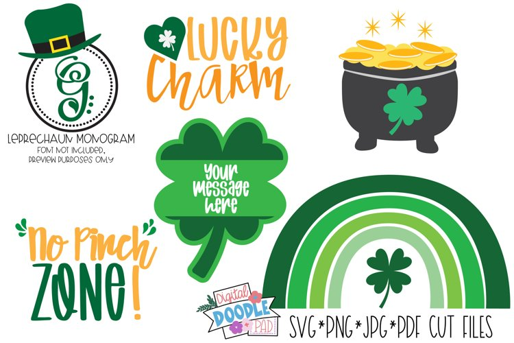 St. Patricks Day Shamrock SVG Cut File Cricut & Silhouette