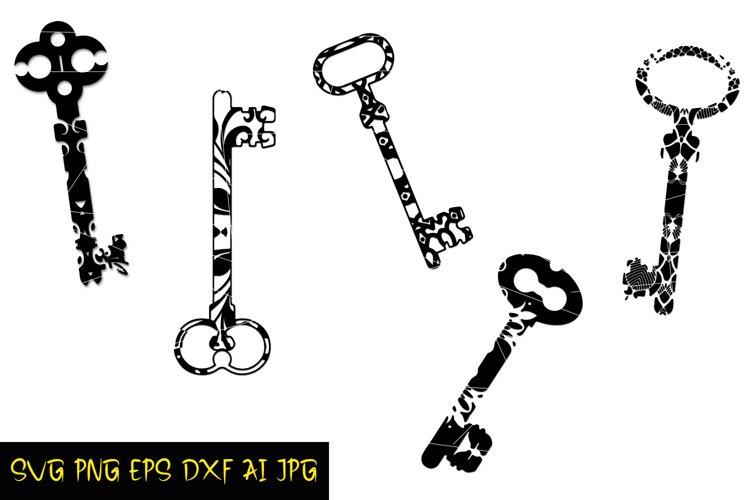 Keys Svg Prints, Digital Keys for crafts, Printable Download example image 1