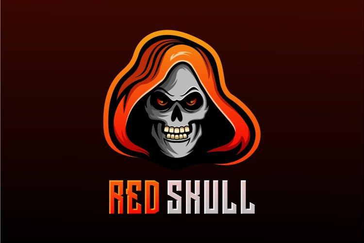 logo red skull vector gaming example image 1
