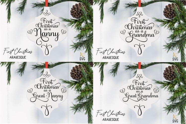 Arabesque Tile First Christmas As A Grandma Nanny example image 1