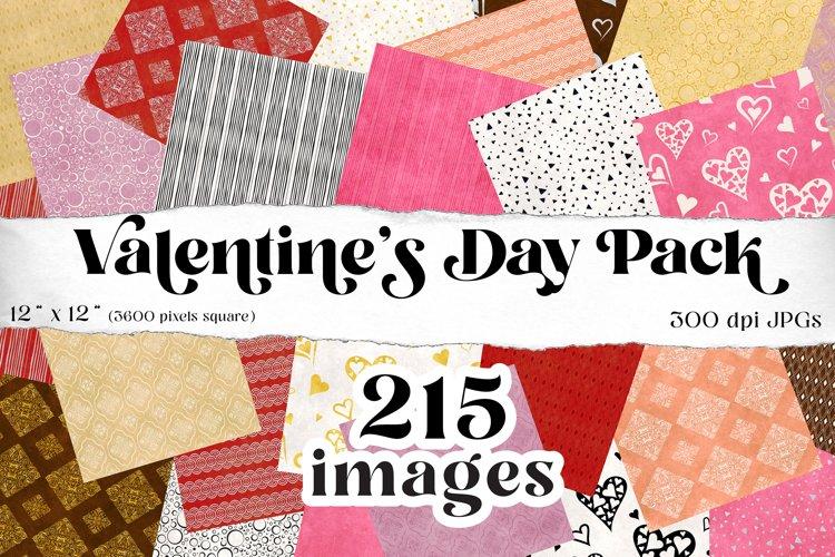 Valentines digital scrapbooking papers, mega pack of 215
