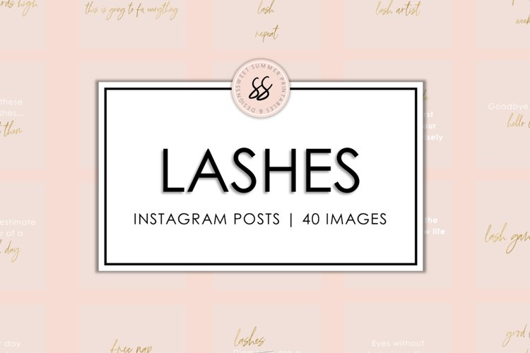Lashes Blush and Gold Instagram Posts example image 1