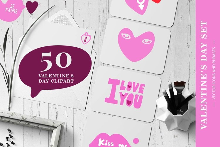 Valentine's Day Vector Images Set example image 1
