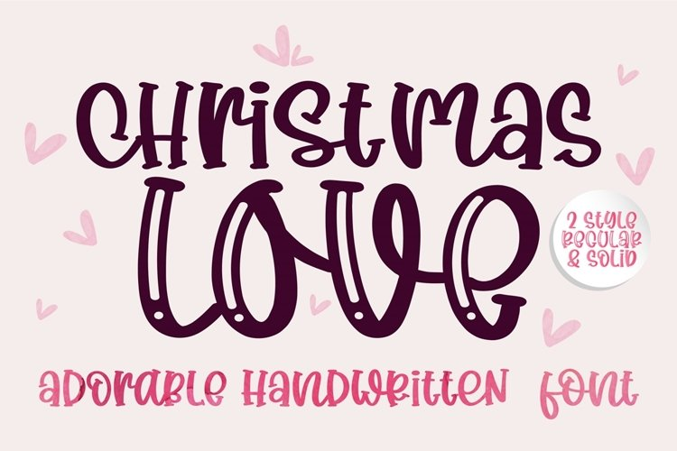 Christmas Love- A adorable handwritten mixed case font example image 1