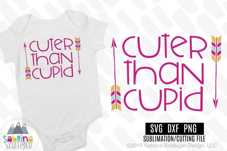 Cuter Than Cupid- Kids Valentine SVG Cutting File