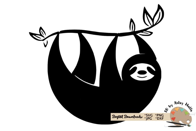 Sloth silhouette svg CUT FILE, Sloth svg funny cute Sloth example image 1