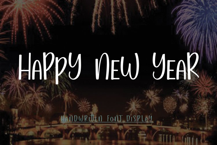 Heppy New Year I WEB FONT example image 1