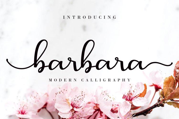 Barbara Calligraphy example image 1