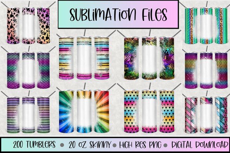 20oz STRAIGHT Skinny Bleach Tumbler G1 Sublimation files