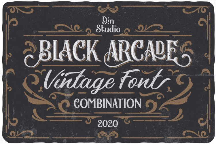 Black Arcade Font Pack example image 1