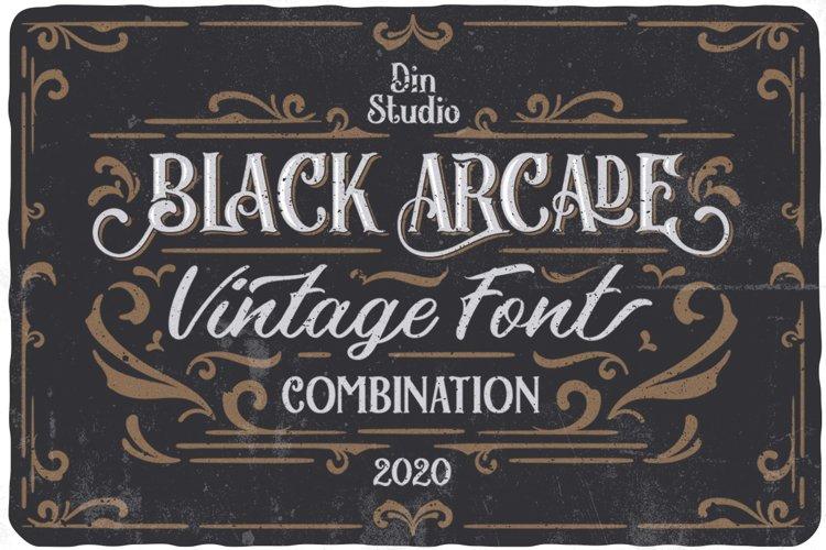 Black Arcade Font Pack