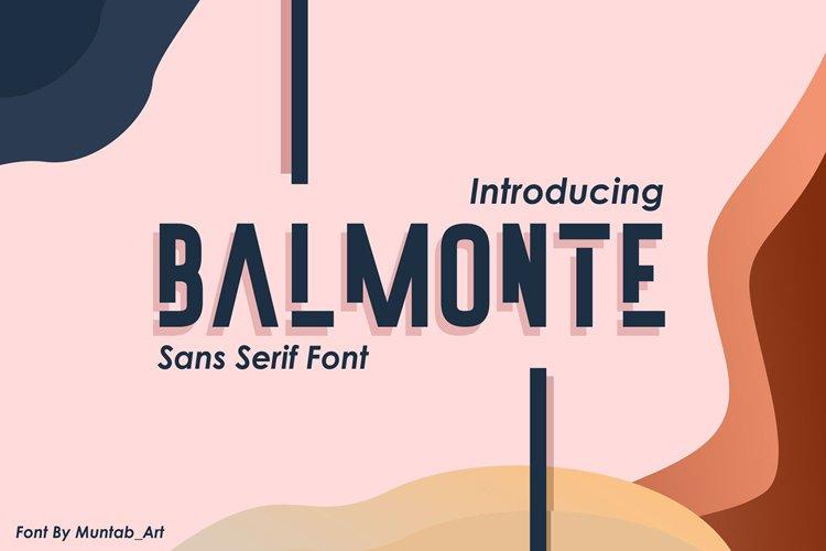 Balmonte | Modern Font example image 1