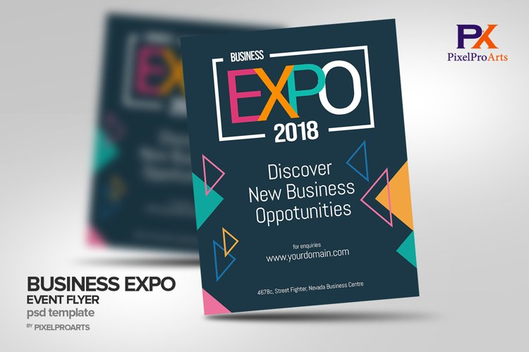 Business Expo Event Flyer Poster Template example image 1