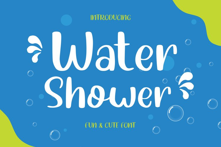 Water Shower - Cute Font example image 1