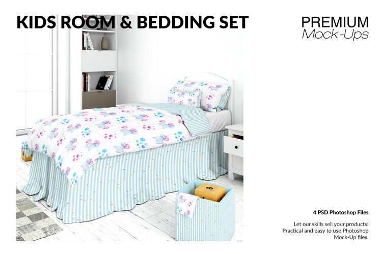 Kids Room with Bedding Set example image 1
