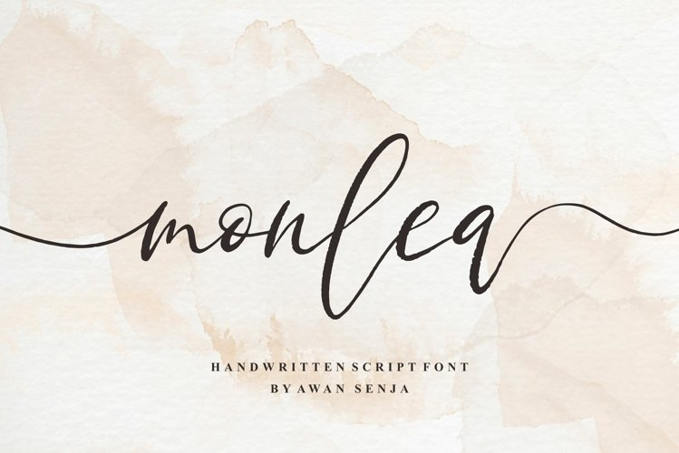 Monlea - Handwritting Script example image 1