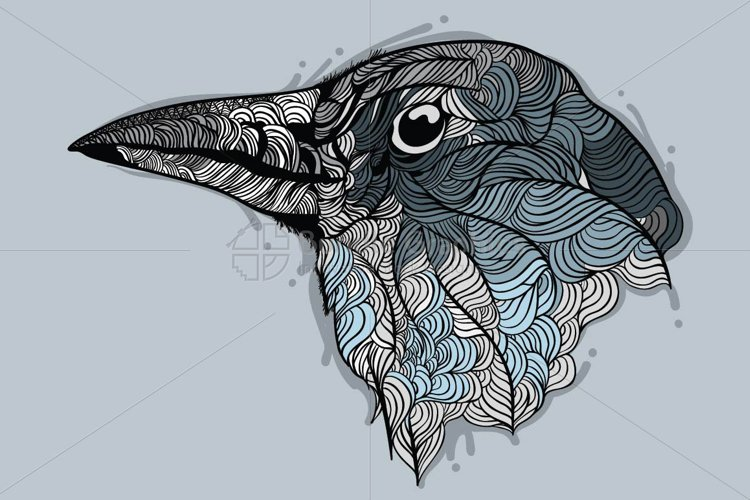 Raven - Vector Graphic Image of Bird example image 1