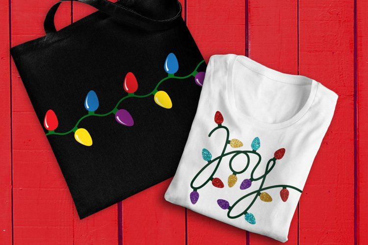 Joy Christmas Light SVG File Cutting Template Set example image 1