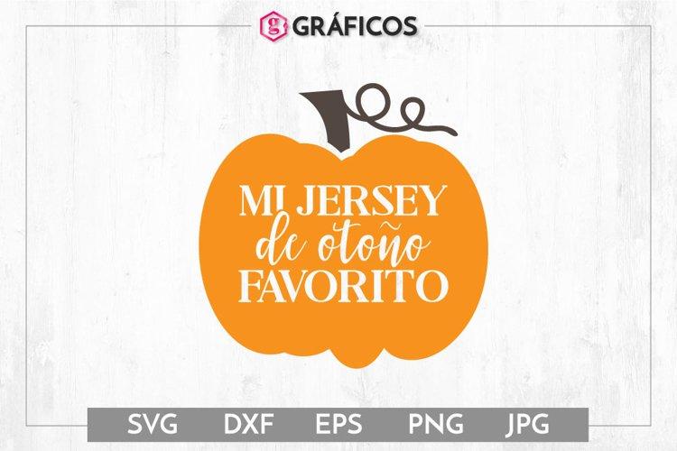 Mi jersey de otoño favorito SVG - Otoño SVG - Calabaza SVG example image 1