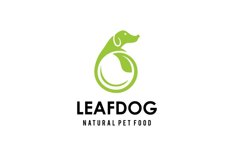 Dog leaf Logo example image 1