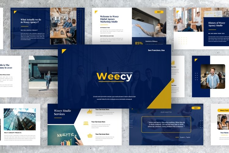Weecy - Business PowerPoint Presentation Templates example image 1