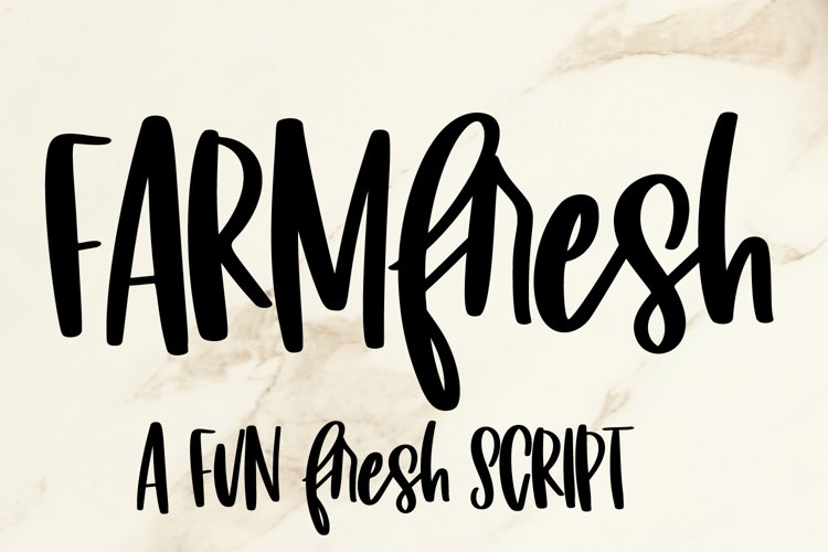 Farm Fresh - A fun fresh script example image 1