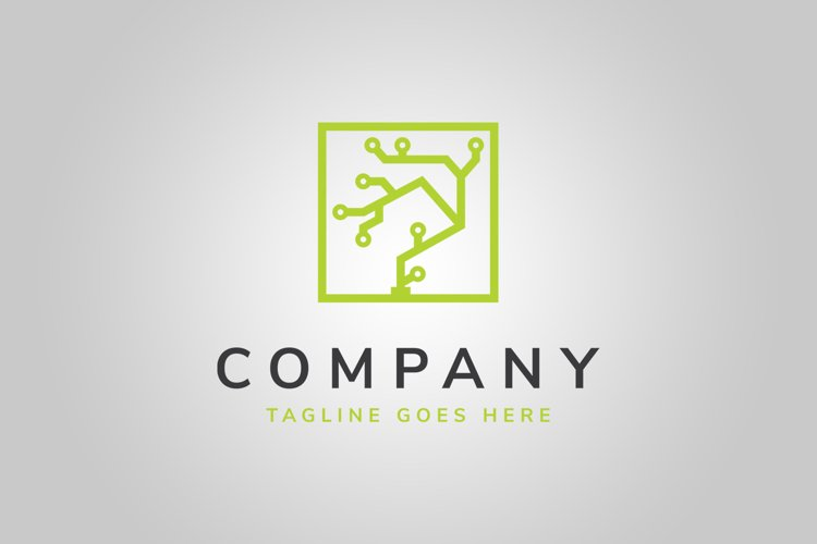 Digital Tree Logo Template example image 1